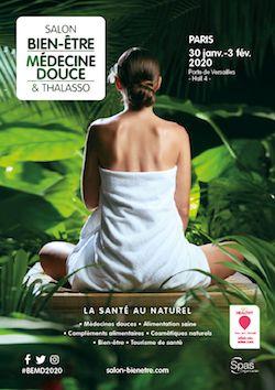 Affiche salon Bien-être, Médecine douce & Thalasso Paris 2020
